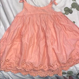 babygirl  coral dress - 18/24m